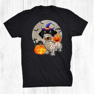 Wiener Dachshund Mummy Jackolantern Pumpkin Happy Halloween Shirt