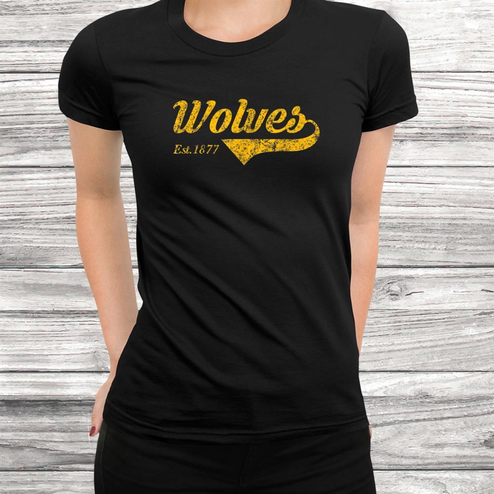 Wolverhampton England Gift Wolves Blackand & Gold Vintage Top Shirt