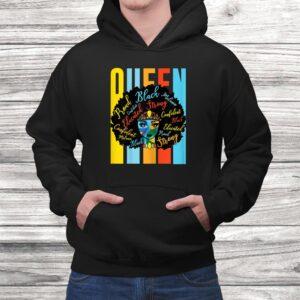 womens black queen melanin african american usa pride dashiki t shirt Black 4
