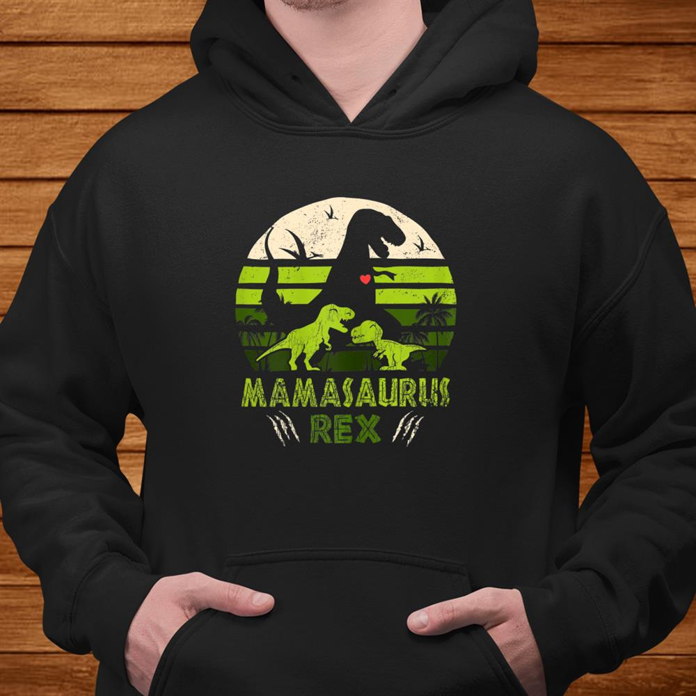 Womens Dinosaur Shirt Mamasaurus Tshirt Rex Lover Boy Family Shirt