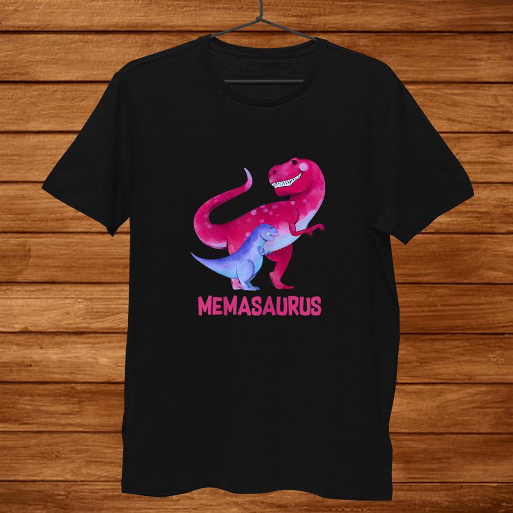 Womens Memasaurus Cute Mema Saurus Dinosaur Christmas Shirt