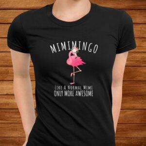 womens mimimingo like an grandma only awesome floral flamingo gift t shirt Men 3
