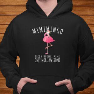 womens mimimingo like an grandma only awesome floral flamingo gift t shirt Men 4