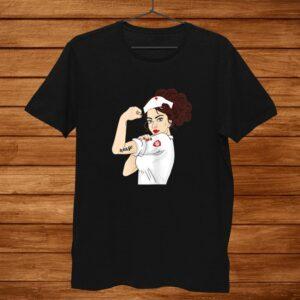 Womens Nurse Strong Woman Warrior Love Nursing Shirt