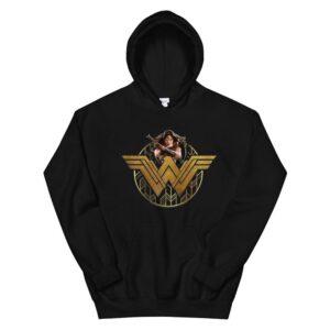 Wonder Woman Movie Power Stance And Emblem Hoodie