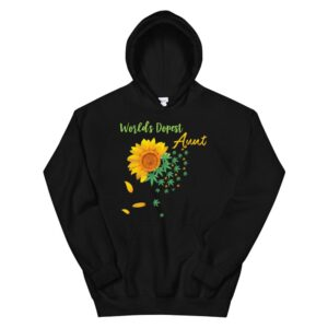 Worlds Dopest Aunt Sunflower Weed Leaves Hoodie