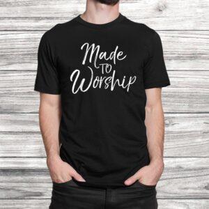 worship leader gift cute christian womens made to worship t shirt Black 2