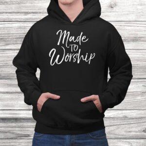 worship leader gift cute christian womens made to worship t shirt Black 4