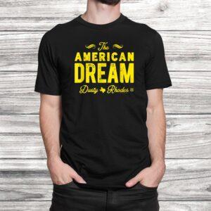 wwe the american dream dusty rhodes t shirt Black 2