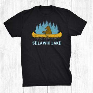 Yellowstone Lake Lake Bear Canoe Outdoor Hiking Camping Shirt