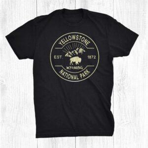 Yellowstone National Park Camping Hiking Wyoming Retro Shirt