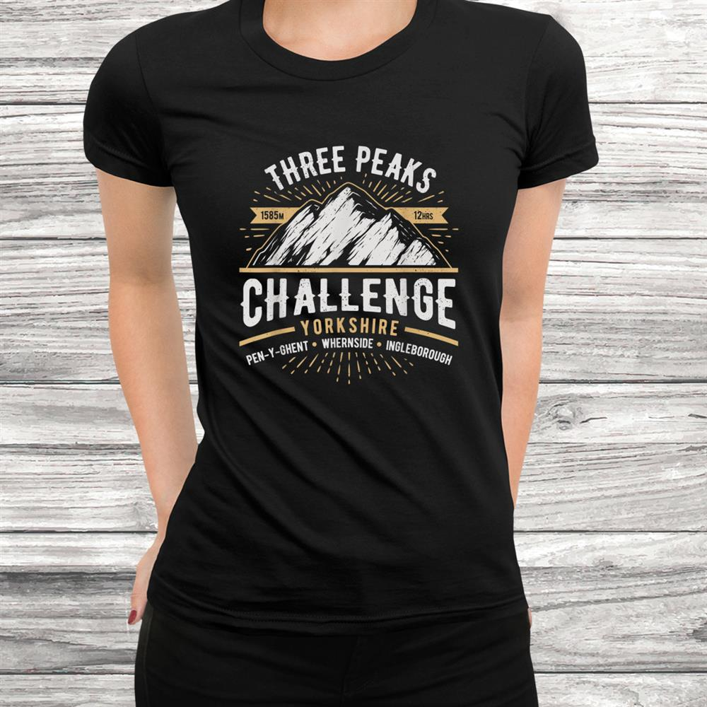 Yorkshire Peaks Challenge Shirt The Mountain Three Peaks Shirt