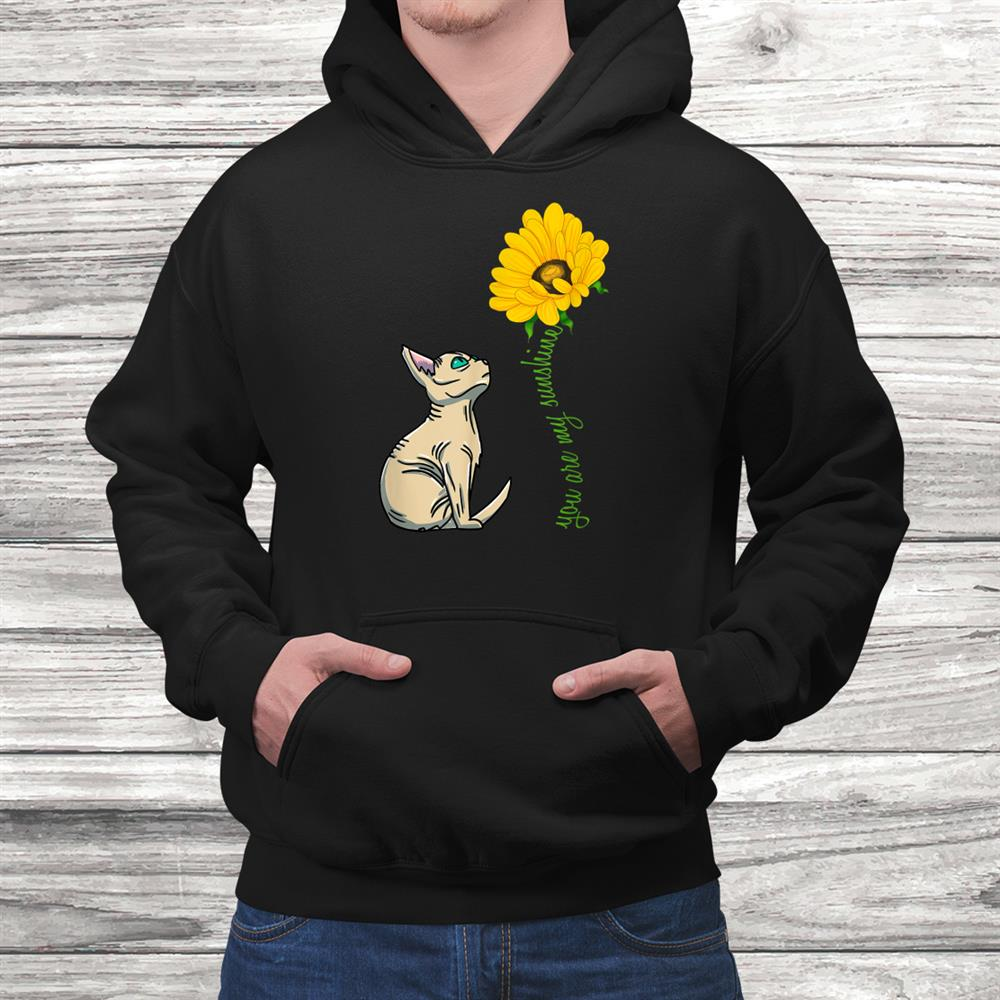 You Are My Sunshine Sphynx Cute Kitten Feline Cat Lover Shirt