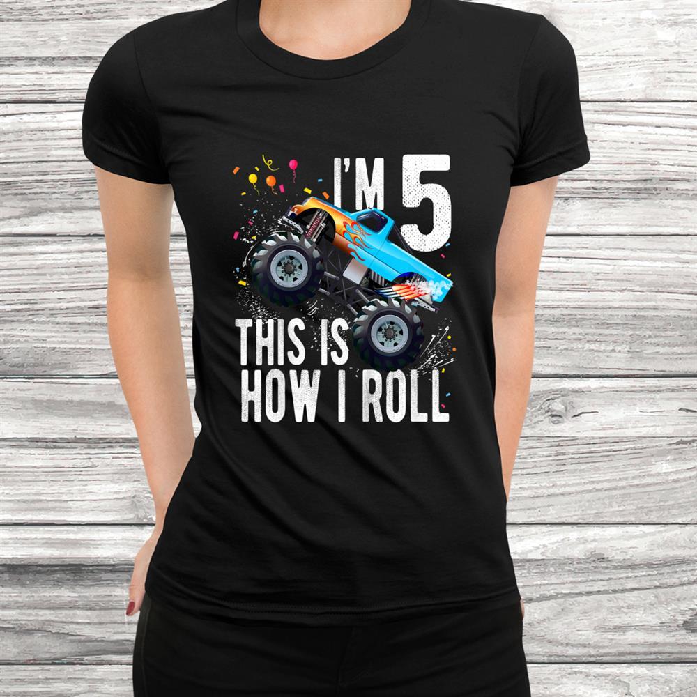 Youth Year Old Shirtth Birthday Boy Monster Truck Car Shirt