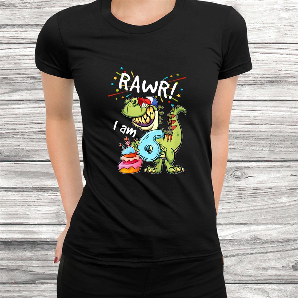 Youth Birthday Shirt T Rexth Birthday Dinosaur T-Shirt For Boys Black