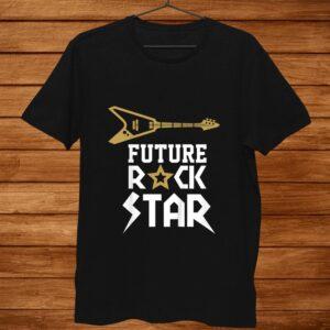 Youth Future Rockstar Shirt Guitar Music Shirt
