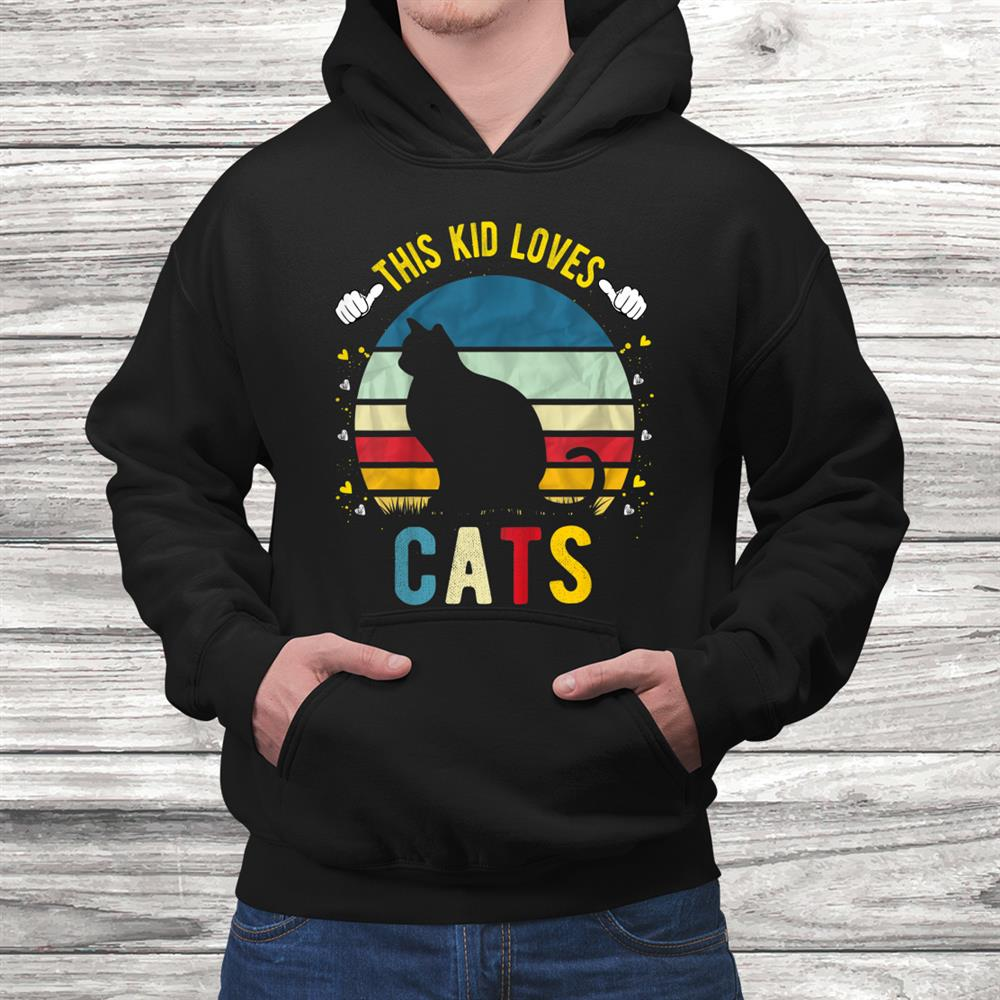 Youth This Kid Loves Cats Boys And Girls Cat Shirt