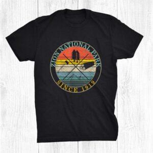 Zion National Park Outdoor Wildlife Trip Camping Souvenir Shirt