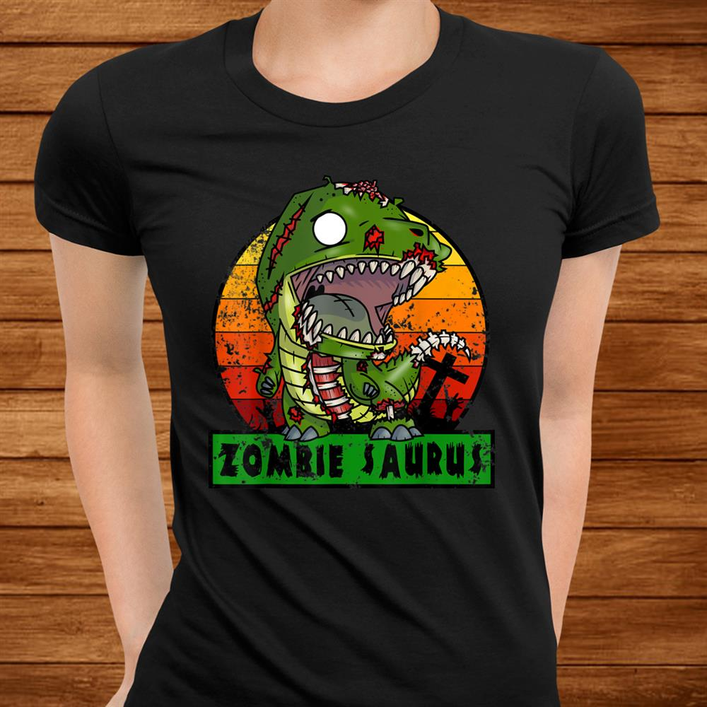 Zombie Saurus Zombiesaurus Dinosaur Halloween Costume Boys Shirt