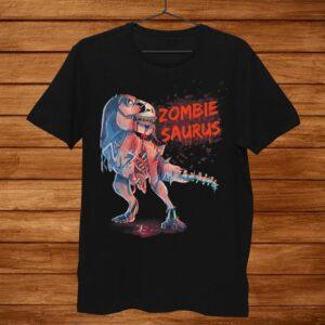 Zombiesaurus T Rex Dinosaur Tyrannosaurus Halloween Zombie Shirt