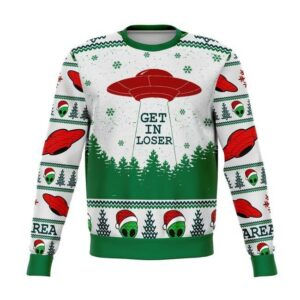 Area1 Get In Loser Ugly Christmas Sweater