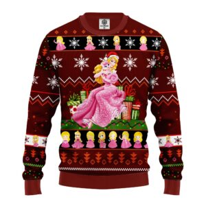 Aurora Ugly Christmas Sweater Red Brown
