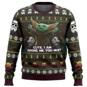 Baby Yoda Cute I Am Mandalorion Star Wars Ugly Christmas Sweater