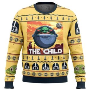 Baby Yoda The Child Mandalorion Star Wars Ugly Christmas Sweater
