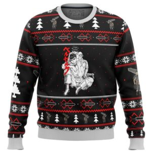 Berserk Guts And Casca Ugly Christmas Sweater
