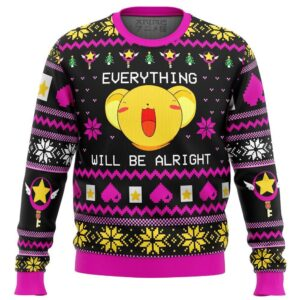 Cardcaptor Sakura Everything Will Be Alright Ugly Christmas Sweater