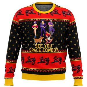 Cowboy Bebop See You Space Cowboy Ugly Christmas Sweater