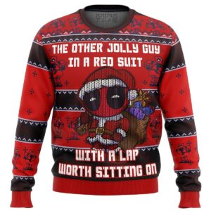 Deadpool Jolly Red Guy Ugly Christmas Sweater