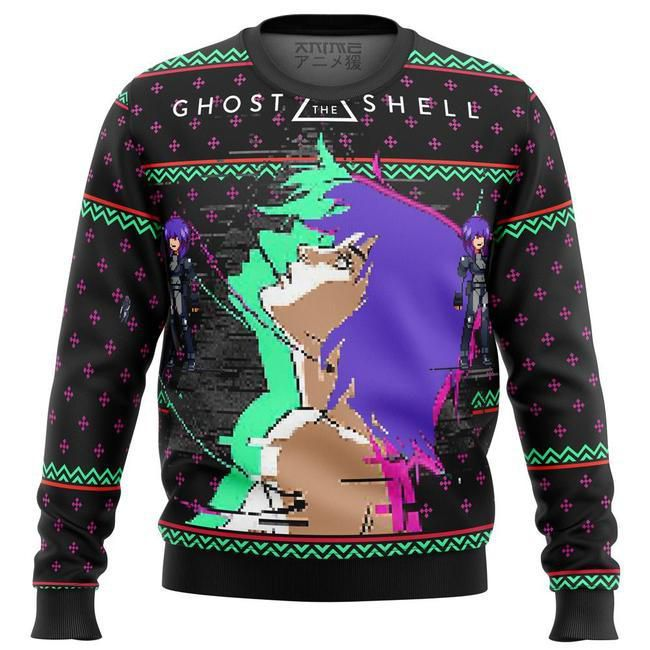 Ghost In The Shell Major Ugly Christmas Sweater
