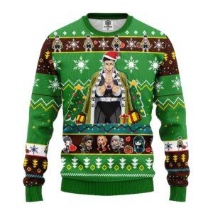 Gyomei Himejima Demon Slayer Anime Ugly Christmas Sweater Green
