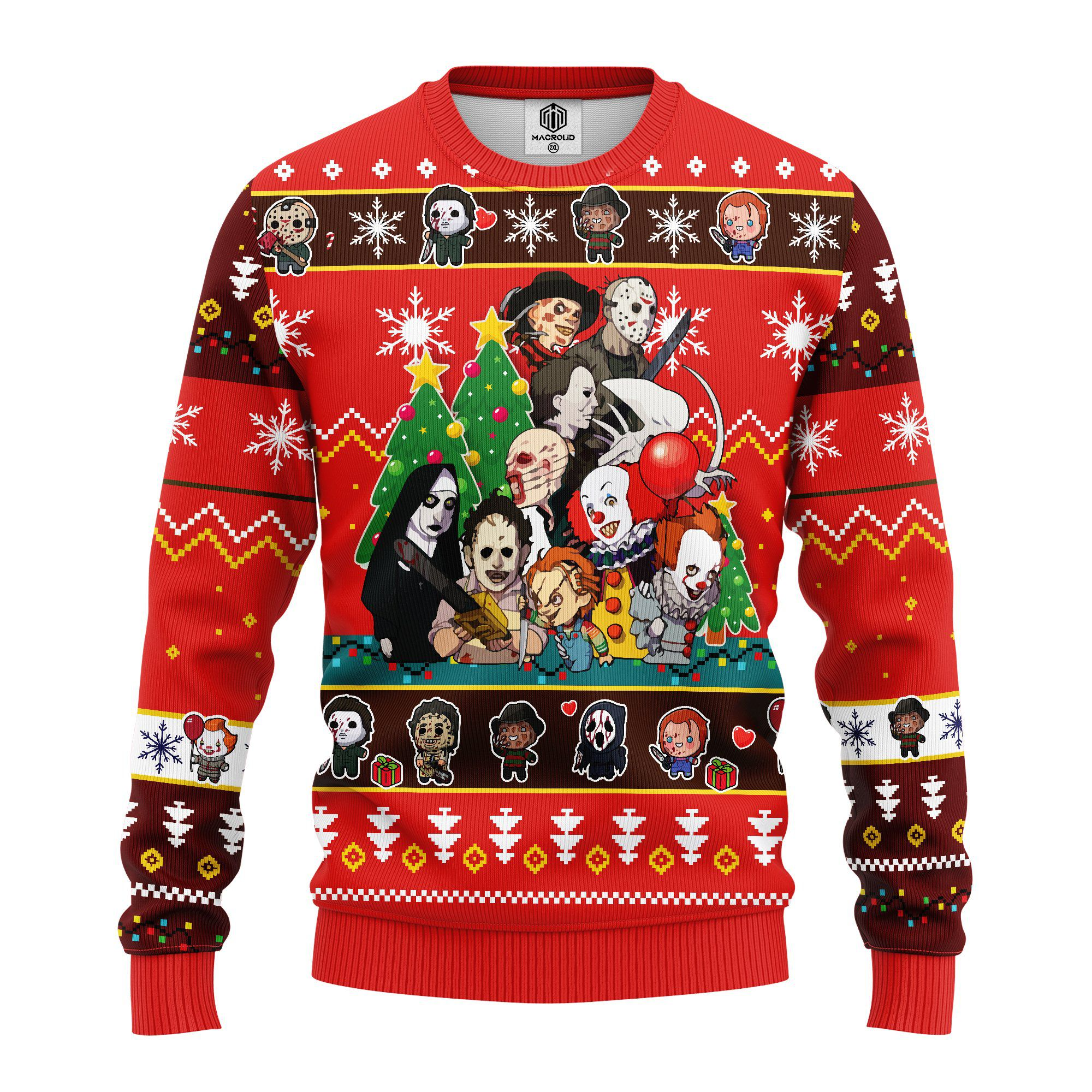 Horror Friends Ugly Christmas Sweater
