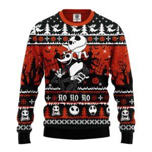 Jack And Zero Nightmare Noel Ugly Christmas Sweater