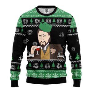 Leonardo Dicaprio Drinking Meme Ugly Christmas Sweater