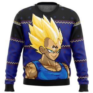 Majin Vegeta Dbz Ugly Christmas Sweater