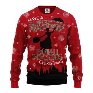 Mary Poppins Ugly Christmas Sweater