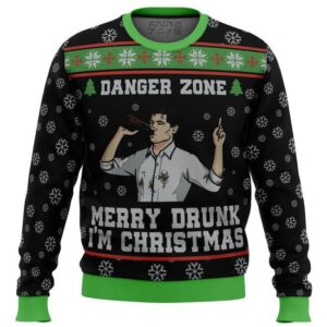 Merry Drunk I'M Christmas Sterling Archer Black Ugly Christmas Sweater