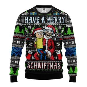 Merry Rick And Morty Ugly Christmas Sweater