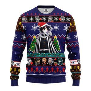 Obanai Iguro Demon Slayer Anime Ugly Christmas Sweater Blue