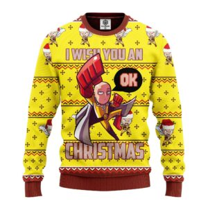 One Punch Mand Ugly Christmas Sweater