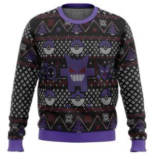 Pokemon Ghost Ugly Christmas Sweater