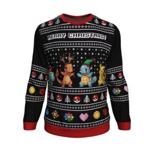 Pokemon Starters Ugly Christmas Sweater