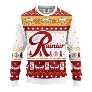 Rainier Beer Ugly Christmas Sweater