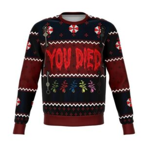 Resident Evil You Died Ugly Christmas Sweater