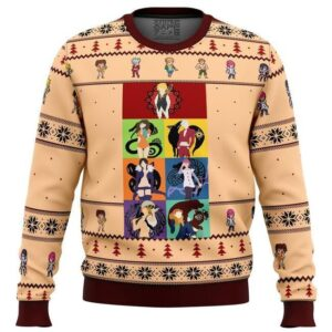 Seven Deadly Sins Minimal Ugly Christmas Sweater