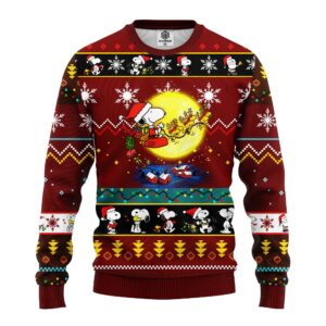 Snooby Moon Ugly Christmas Sweater Red