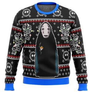 Spirited Away No Face Ugly Christmas Sweater